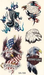 harley davidson eagle temporary tattoos by temporary tattoos