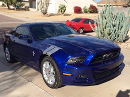 2014 ford mustang pony package file 2014 mustang premium coupe in impact blue with pony
