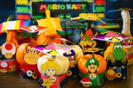 printable mario kart costumes gourds u0026 miniature pumpkins