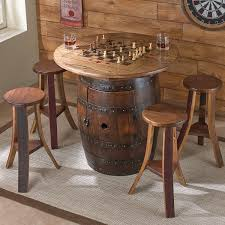 Wine Barrel Bar Table Reclaimed Wine Barrel Pub Table With Glass Top Enthusiast Whiskey