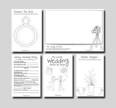 kids wedding activity book print at home mint wedding toolz