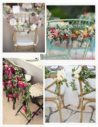 30 ideas of chair decor with pretty floral swags and posies