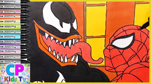 venom vs spiderman coloring pages for kids 74 how to color