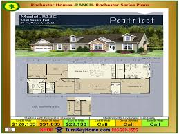 Price Plan Design Patriot Rochester Modular Home Model Jr13c Ranch Plan Price