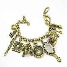 charms bracelet online images Vintage bronze mirror teapot frog clock alloy pendant bracelet jpg