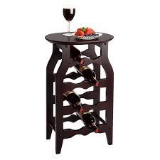 wine rack side table 8 bottle oval wine rack side table in espresso howard hill