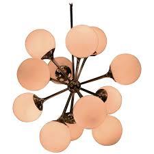 Glass Globes For Chandeliers 1960s Lightolier Chrome