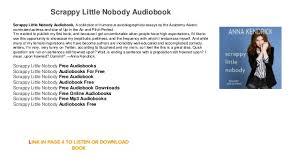 audiobook free scrappy nobody audiobook free