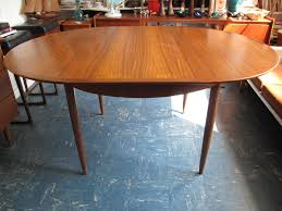 Teal Dining Table by Parker Teak Extendable Round Vintage Danish Style Dining Table