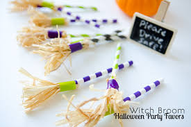 Halloween Party Favors Craftaholics Anonymous Paper Straw Witch Brooms Halloween