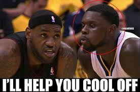 Lance Stephenson Meme - lance stephenson looking to help out lebron james theblow http