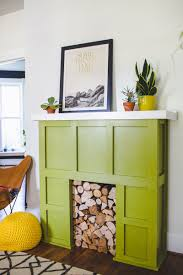 try this a faux fireplace u2013 a beautiful mess