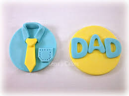 12 fathers day fondant cupcake edibletoppers dad birthday