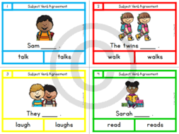 subject verb agreement task cards by lindylovestoteach teaching