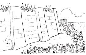 joshua and the battle of jericho coloring page 2764 1295 830