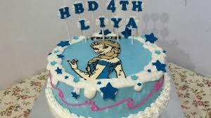 birthday cake frozen elsa buttercream beautiful