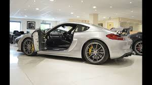 porsche cayman silver gt silver porsche cayman gt4 at baytree cars start up rev u0027s and