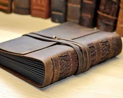 Leather Photo Albums Engraved Leather Scrapbook Etsy