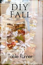 Fall Table Runners by Diy Fall Table Runner Country Design Style