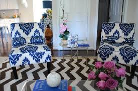 West Elm Chevron Rug Ikat Chairs Contemporary Living Room Johns Journal