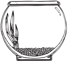 free coloring pages of fish inside the aquarium coloring page of a