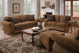 Accent Pillows For Brown Sofa chocolate fabric traditional sofa u0026 loveseat set w throw pillows