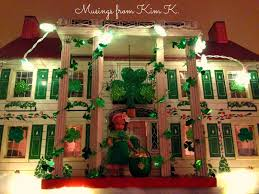 st patrick s day home decorations musings from kim k a shamrock party at the plantation dollhouse