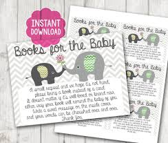 instead of a card bring a book gender neutral printable bring a book instead of a card baby
