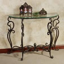 narrow metal console table console table furniture rustic french style half moon console