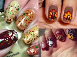 gobble gobble 16 festive d i y thanksgiving day nails from