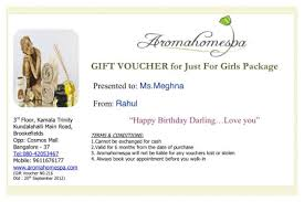 spa gift certificate spa gift card spa gift voucher at aroma