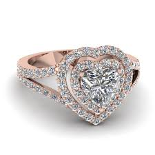 heart shaped rings images Heart shaped diamond engagement ring in 18k rose gold jpg