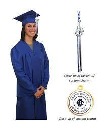 cap gown and tassel matte graduation cap gown and tassel with custom charm