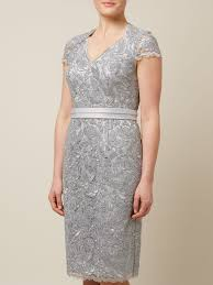 jacque vert lyst jacques vert corded lace dress in metallic