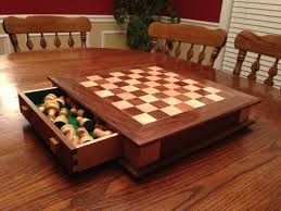 chess board made from maple and walnut thanks steve ramsey my