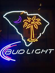 bud light neon light used clemson bud light neon sign in seneca