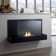 modern black portable bioethanol fireplace italian contemporary design accessories for living room interior
