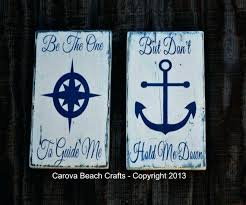 wooden signs decor natical signs sign nautical decor anchor sign two wood signs