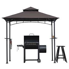 Bbq Canopy Walmart by Sunjoy 8 X 5 Ft Hacienda Grill Gazebo Walmart Com