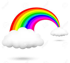free clipart rainbow with clouds clipartxtras