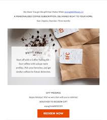send gift cards by email coffee e gift card