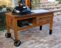how to build a weber grill table custom grill table or cabinet for kamado joe big green egg
