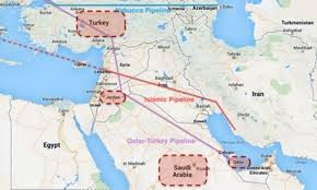 Syria On A Map by Syria Another Pipeline War Ecowatch