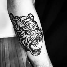 40 tribal tiger tattoo designs for men big cat ink ideas