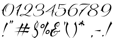 different number fonts for tattoos pictures to pin on pinterest