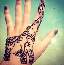 cutest elephant henna tattoo u003c3 tattoos pinterest hennas