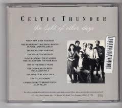 the light of other days the light of other days celtic thunder cd ebay