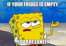 Lonely Meme - if your fridge is empty you are lonely meme 9buz