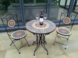 outdoor bistro table and chairs mosaic bistro table set picture 2 of 3 mosaic bistro garden