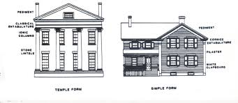 temple and simple form of greek revival our little big house